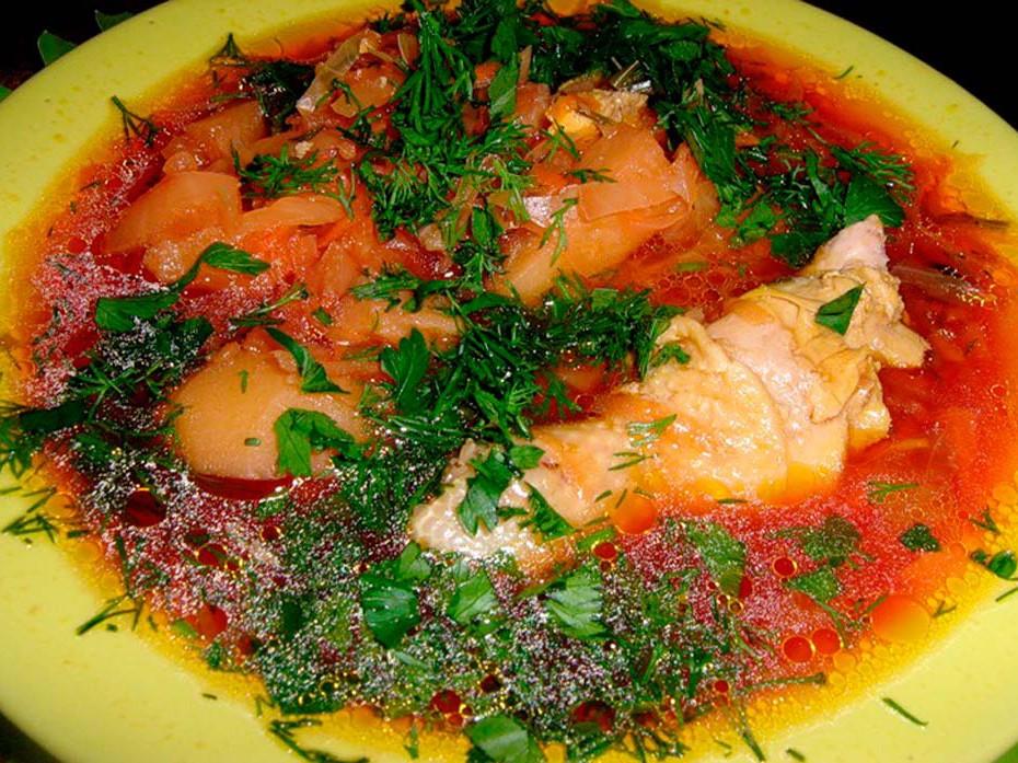 Борщ украинский из курицы рецепт