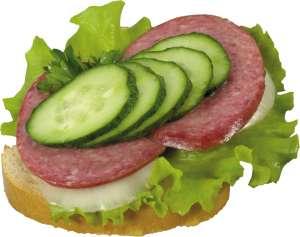 Сколько калорий в бутерброде с колбасой1