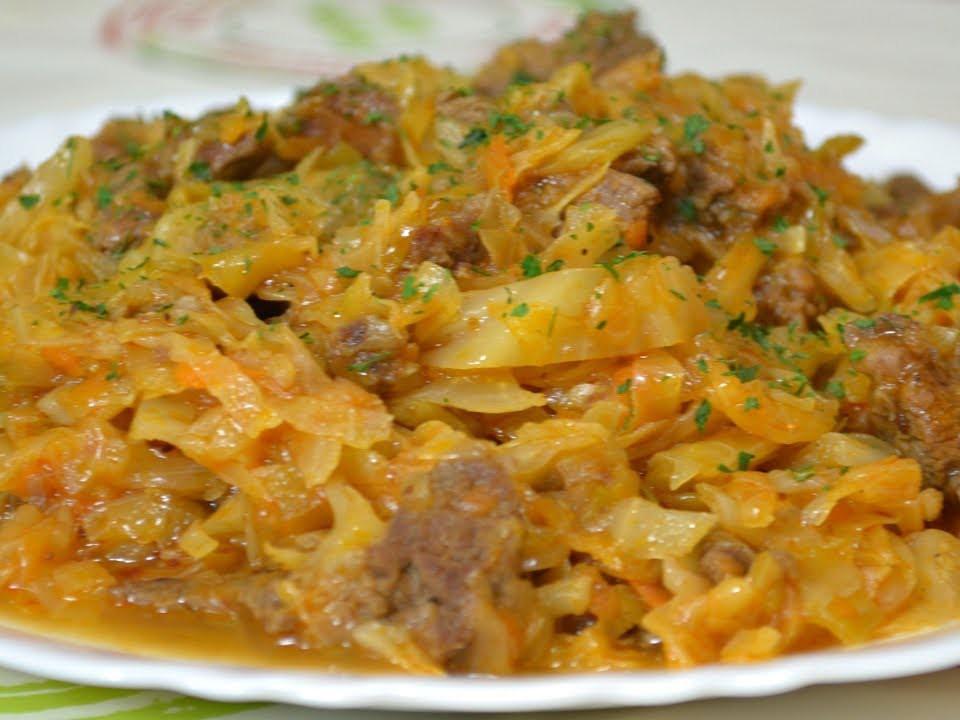 Тушеная капуста с мясом рецепт с фото в мультиварке филипс