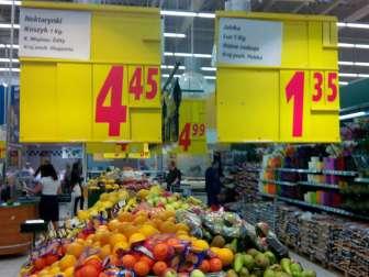 Цены на еду в Польше 2017