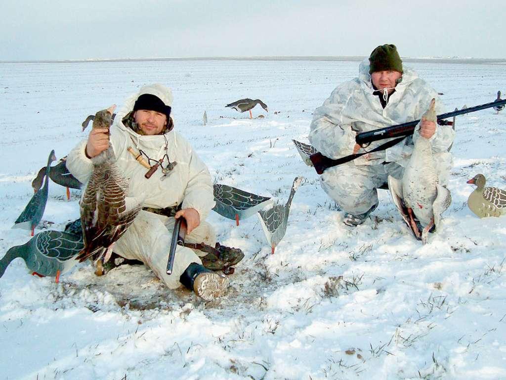 Охота на гуся в Калмыкии 2018